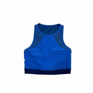 Joy Lab Crop Workout Top Tank Blue Sz Small